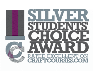 Craft Courses Silver Award - rated excellent by 5 or more students